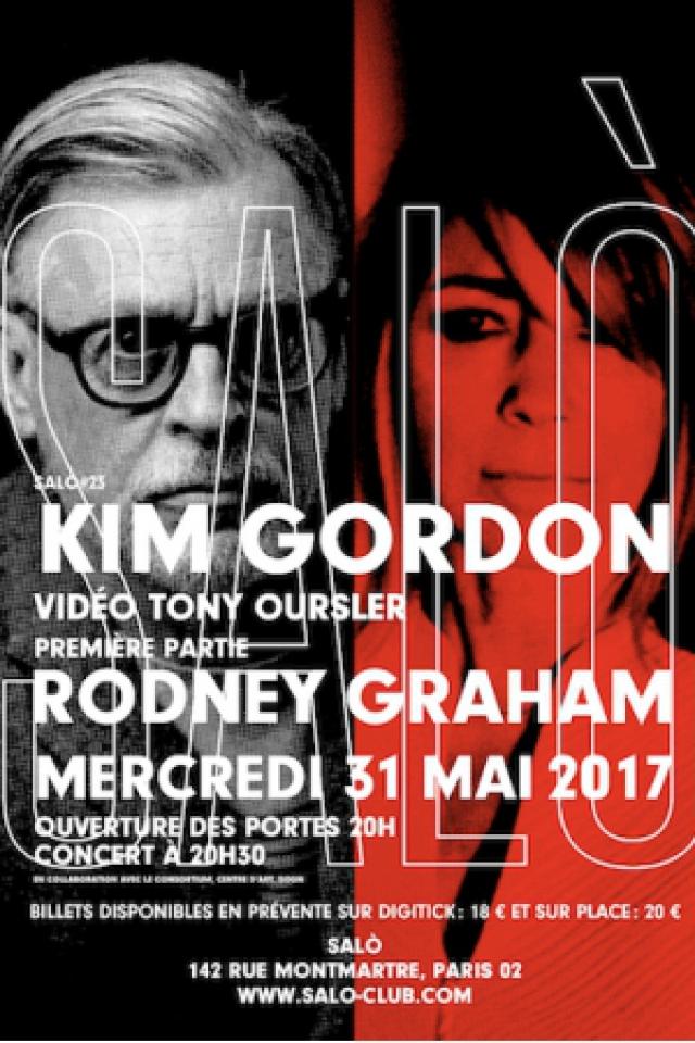 KIM GORDON (1ère partie Rodney Graham) @ SALÒ - PARIS