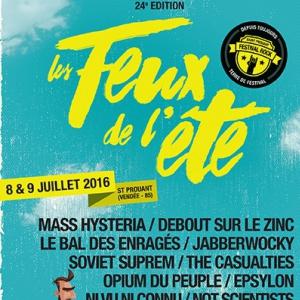 Concert Festival Les Feux de l'Et� 2016 - Pass 2 jours