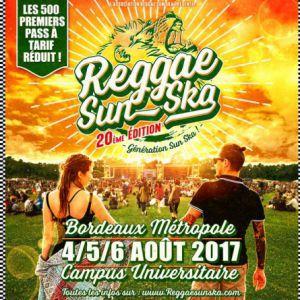 FESTIVAL REGGAE SUN SKA 2017 - PASS CAMPING @ Domaine Univ. de Talence Pessac Gradignan - TALENCE