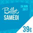 SOLIDAYS 2017 - BILLET SAMEDI