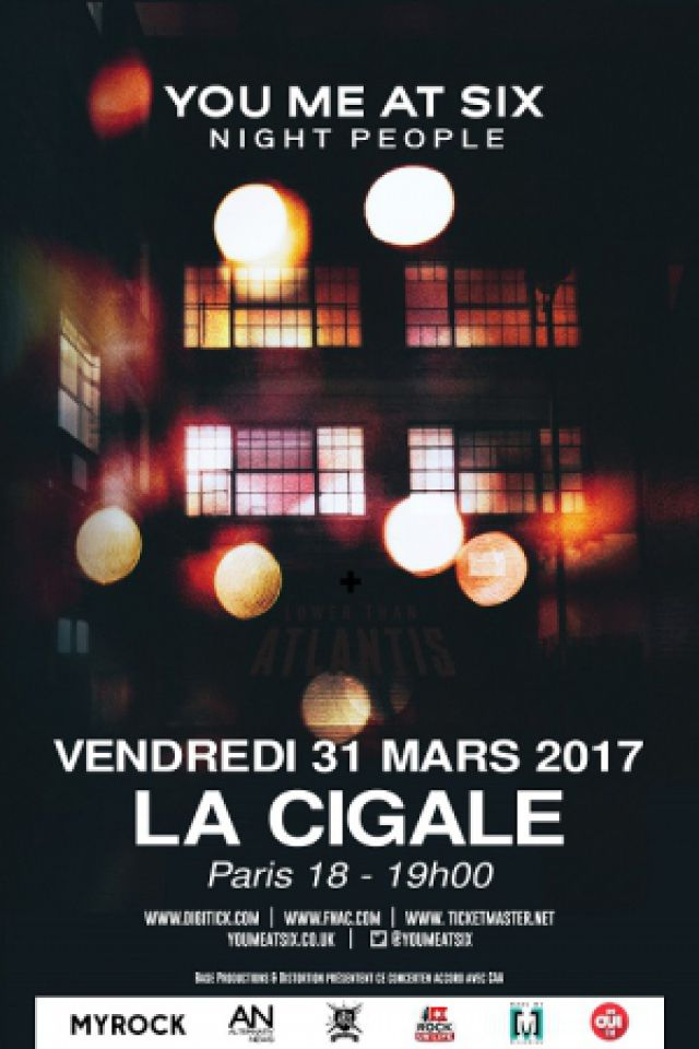 Concert YOU ME AT SIX à Paris @ La Cigale - Billets & Places