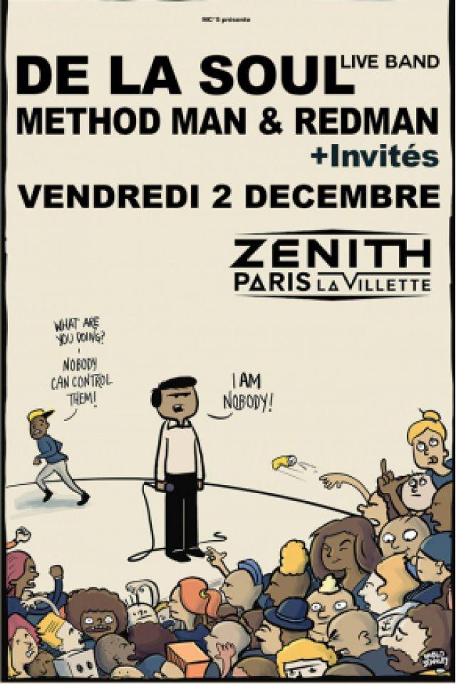 Concert DE LA SOUL Live Band + Methodman & Redman + Invités