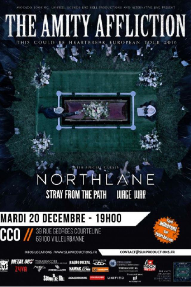 The Amity Affliction + Northlane + Stray From The Path + Wage War @ Centre Culturel Oecuménique (CCO) - Villeurbanne