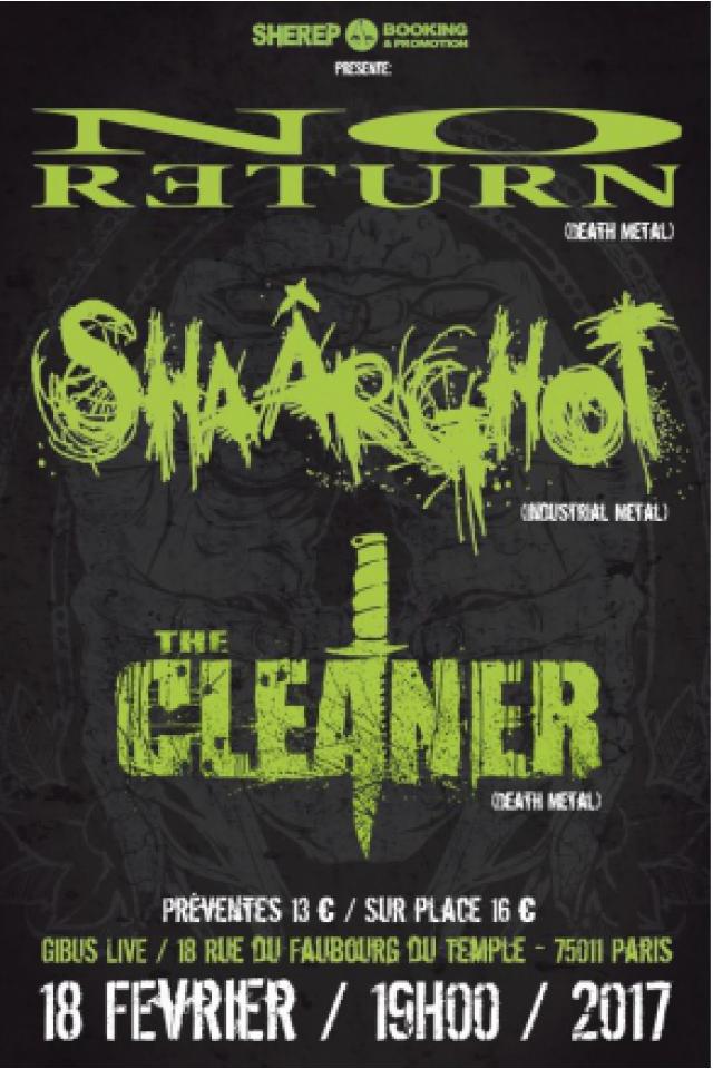 Concert No Return + Shaärghot + The Cleaner