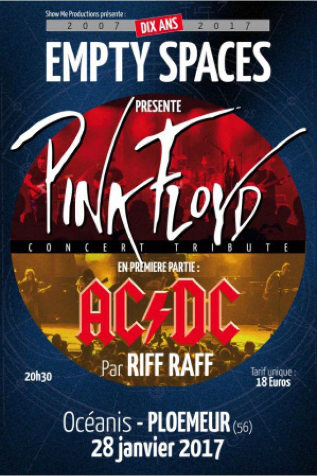 Concert SOIRÉE TRIBUTE - EMPTY SPACES/RIFF RAFF -  (PINK FLOYD/AC/DC)