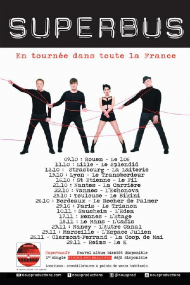 SUPERBUS @ LE K - KABARET CHAMPAGNE MUSIC HALL - TINQUEUX