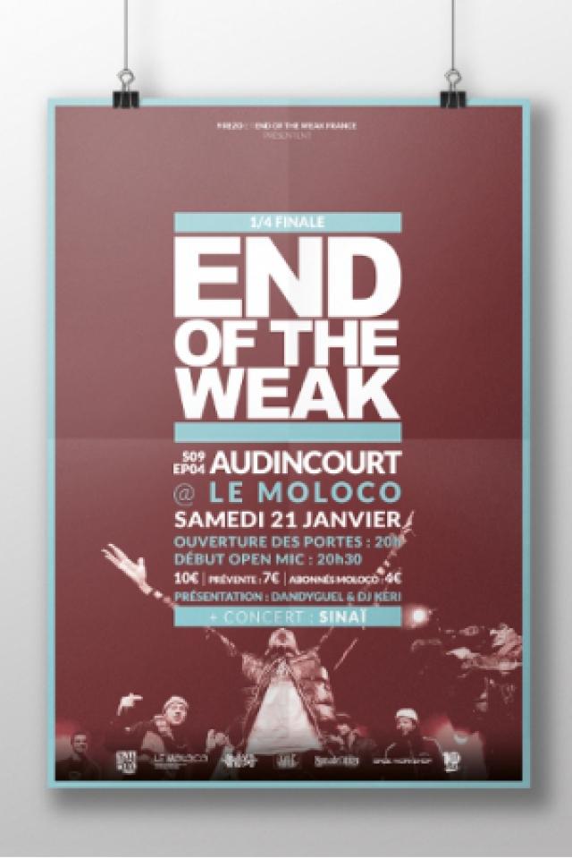 END OF THE WEAK + SINAI @ Le Moloco - Espace Musiques Actuelles du Pays - AUDINCOURT
