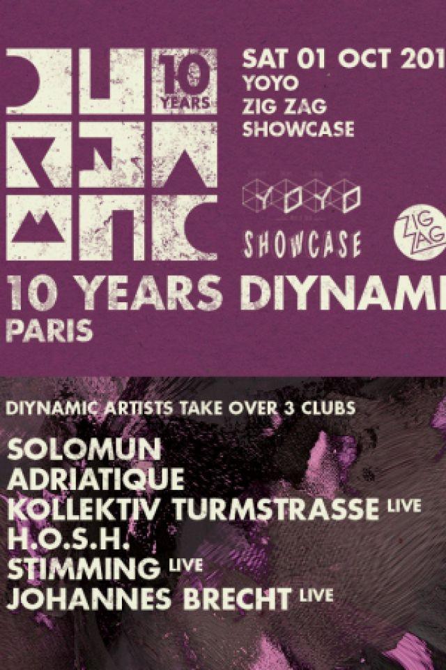 Soirée 10 Years Diynamic - Zig Zag : SOLOMUN, KOLLEKTIV TURMSTRASSE...