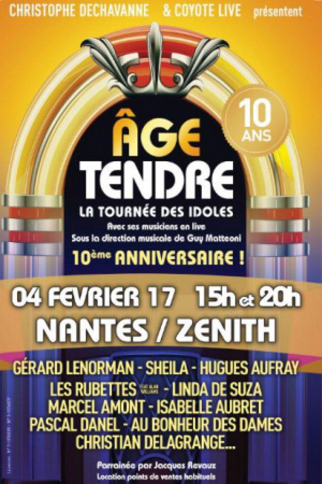 AGE TENDRE « nouvelle tournée 2016 » @ ZENITH NANTES METROPOLE - Saint Herblain