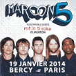 Concert MAROON 5 à PARIS 12 @ ACCORHOTELS ARENA - Billets & Places