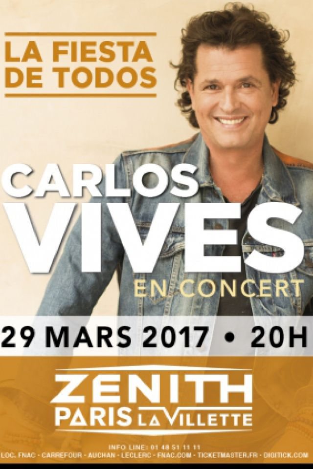 Billets CARLOS VIVES - Zénith Paris La Villette