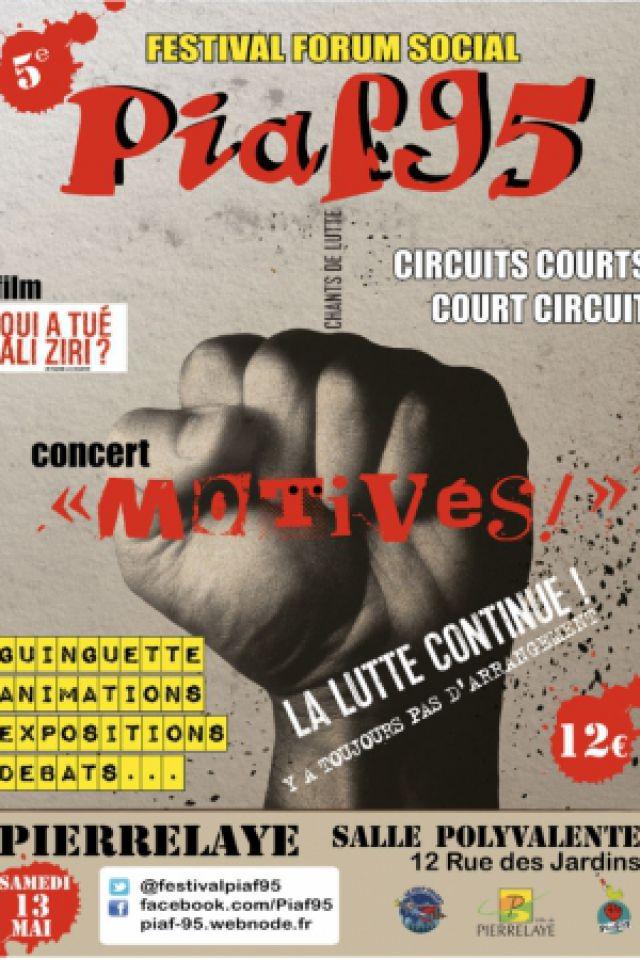 Concert Motivés ! festival-forum social PIAF 95 @ Salle Polyvalente de Pierrelaye - PIERRELAYE