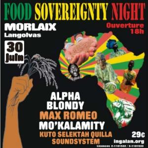 FOOD SOVEREIGNTY NIGHT - ALPHA BLONDY, MAX ROMEO, MO'KALAMITY @ Parc des expositions Langolvas - Morlaix