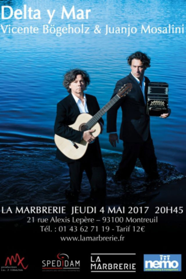 Delta y Mar : Vicente Bögeholz & Juanjo Mosalini @ La Marbrerie - MONTREUIL