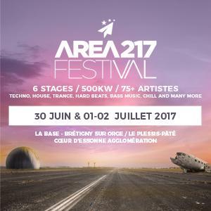 FESTIVAL AREA217 2017 : programmation, billet, place, pass, infos