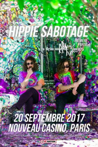 Concert HIPPIE SABOTAGE à Paris @ Le Nouveau Casino - Billets & Places