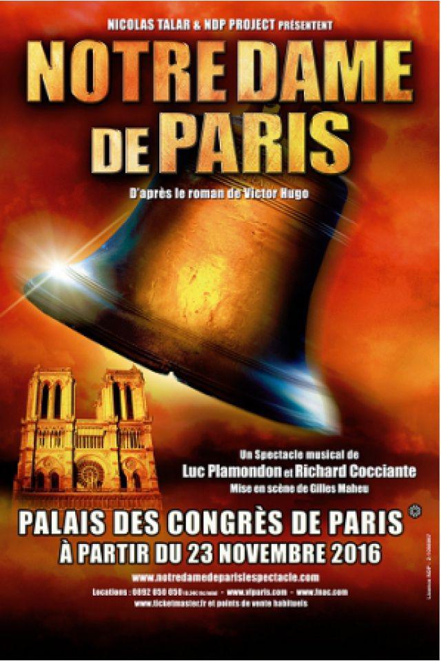 Spectacle NOTRE DAME DE PARIS à Bordeaux @ Patinoire Meriadeck - Billets & Places