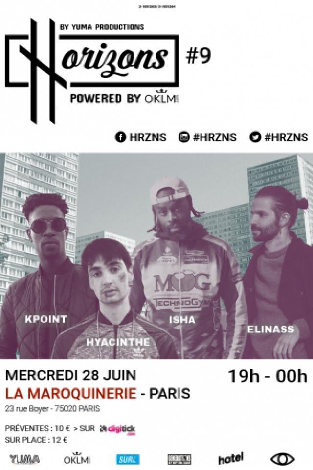 Concert HRZNS #9 - KPOINT - ISHA - HYACINTHE - ELINASS à PARIS @ La Maroquinerie - Billets & Places