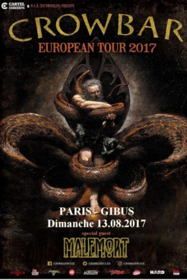 Concert CROWBAR + Guests à PARIS @ Le Gibus  - Billets & Places